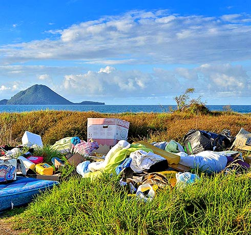 Illegal rubbish dumping in Waikane